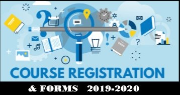 COURSE REGISTRATION AND FORMS FOR 2019-2020