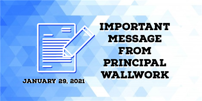 Banner for Letter from Principal Wallwork