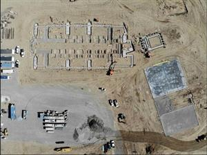 Aerial view of Reynolds Middle School construction