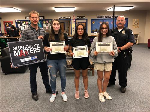 Four MAC Students Earn Perfect Attendance!
