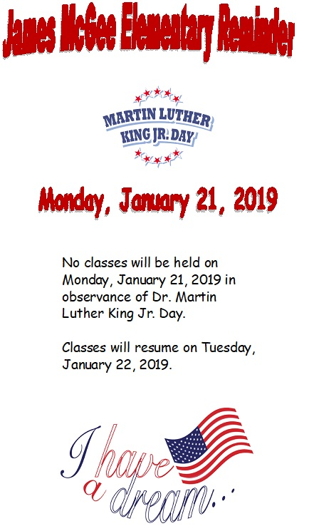 Flyers Dr Martin Luther King Jr Day No Classes Held January 21