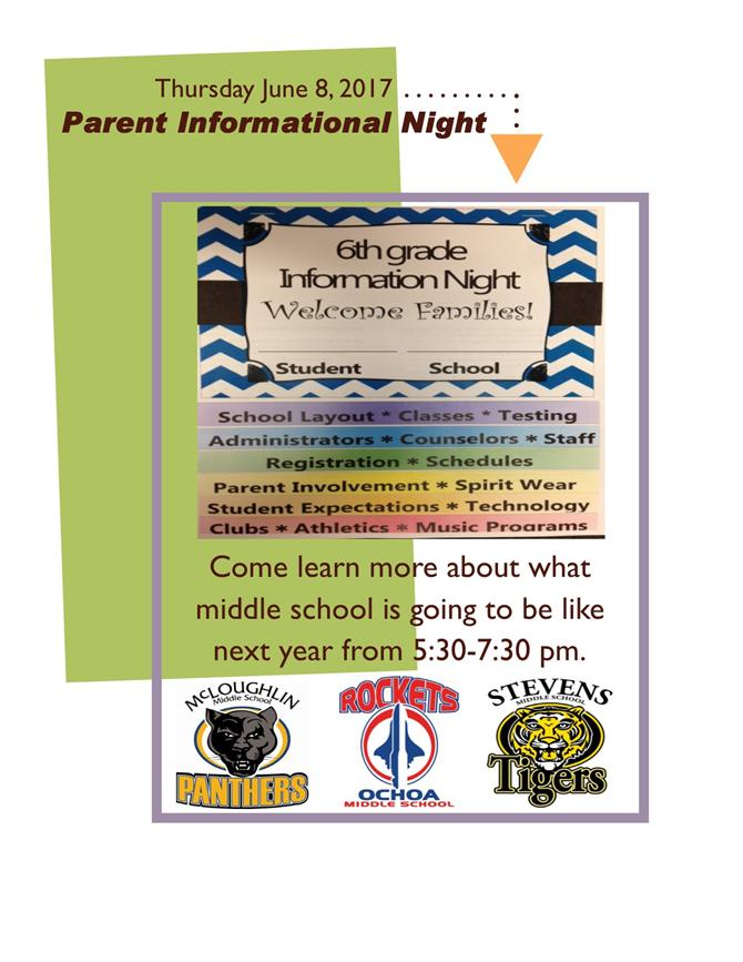 Information Night for Middle School