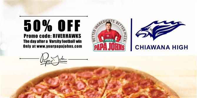 Peak Partner Papa John's 50% off